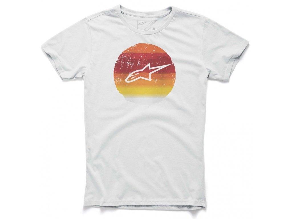 Pánské bílé tričko SCALE TEE Alpinestars krátké 1015-76016 20