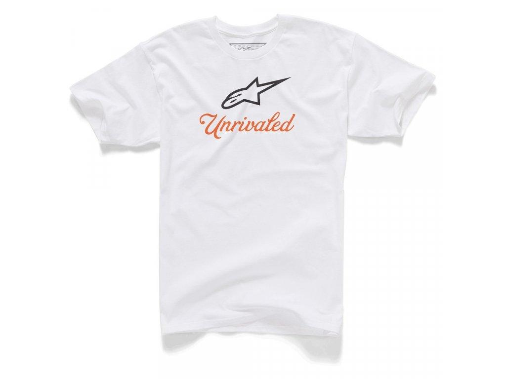 Pánské bílé tričko UNRIVALED TEE Alpinestars krátké 1015-72010 20