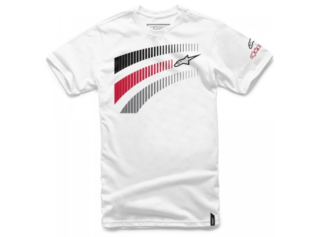 Pánské bílé tričko TELEMETRICS Alpinestars krátké 1016-72035 20