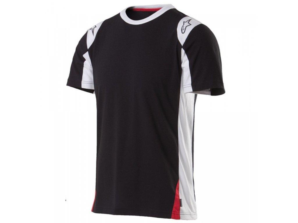 Pánské černé prémiové tričko AUSTIN SS Alpinestars krátké 1015-72015 10