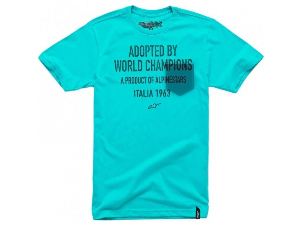 Pánské modré tričko ADOPTED TEE Alpinestars krátké 1014-76005 7086