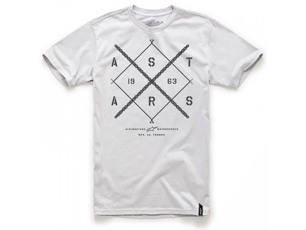 Pánské šedé tričko AS-CHAIN TEE Alpinestars krátké 1034-76004 12