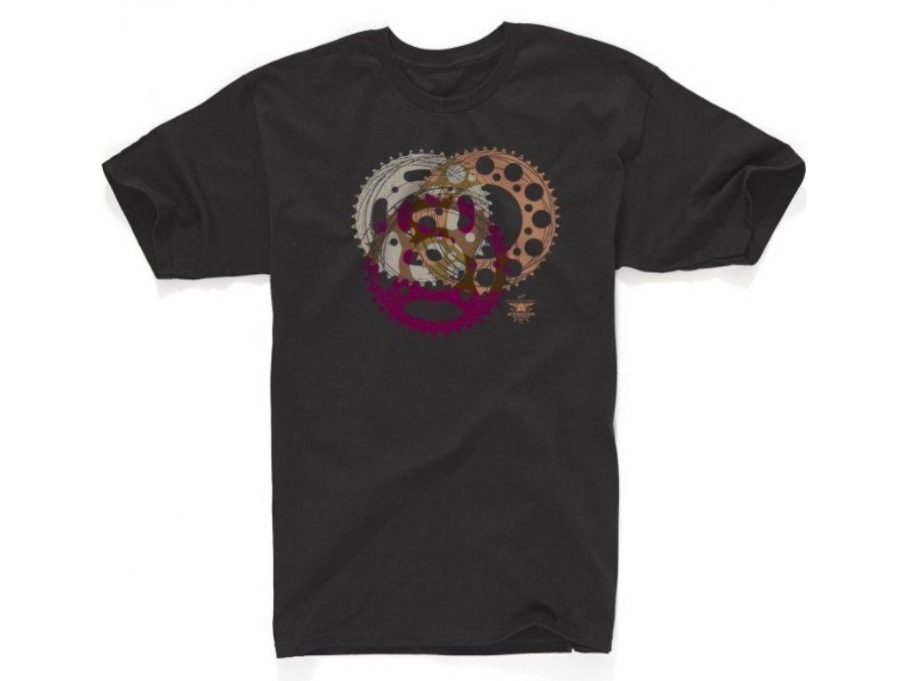 Pánské černé tričko SPROCKET Alpinestars krátké 1034-76013 10