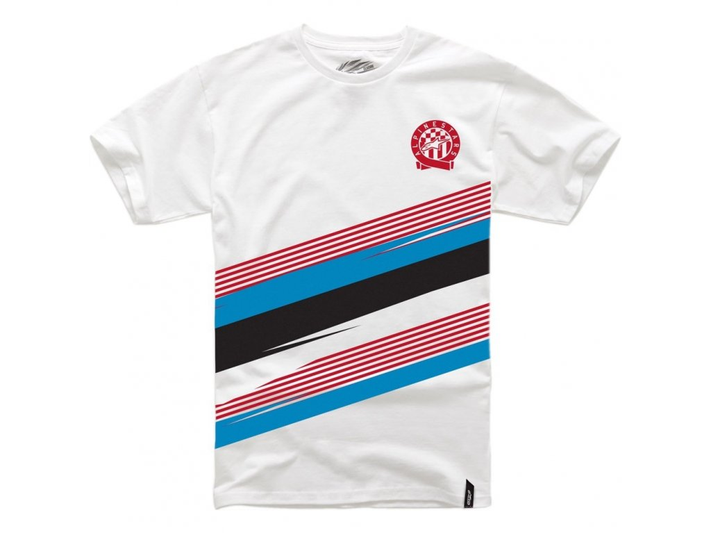 Pánské bílé tričko STARTUP TEE Alpinestars krátké 1014-72004 20