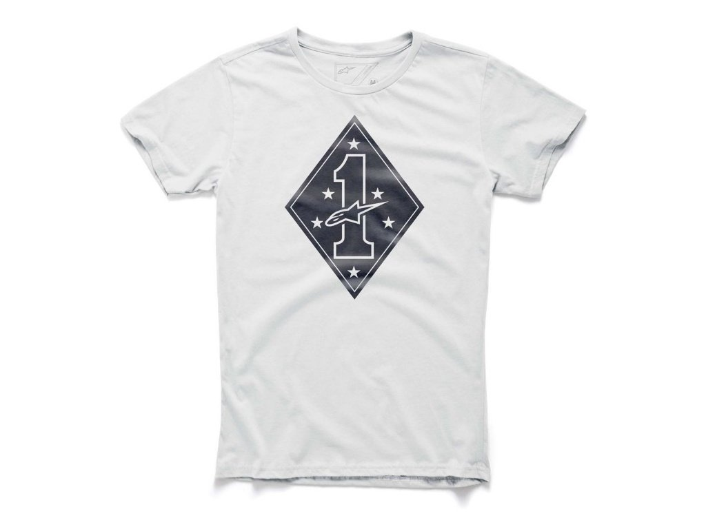 Pánské bílé tričko DIGIT TEE Alpinestars krátké 1015-76021 20