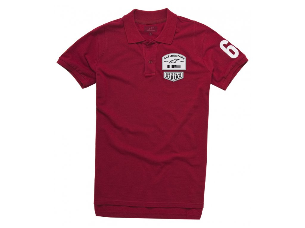 Pánské červené polo PIVOT SS Alpinestars krátké 1035-41002 30