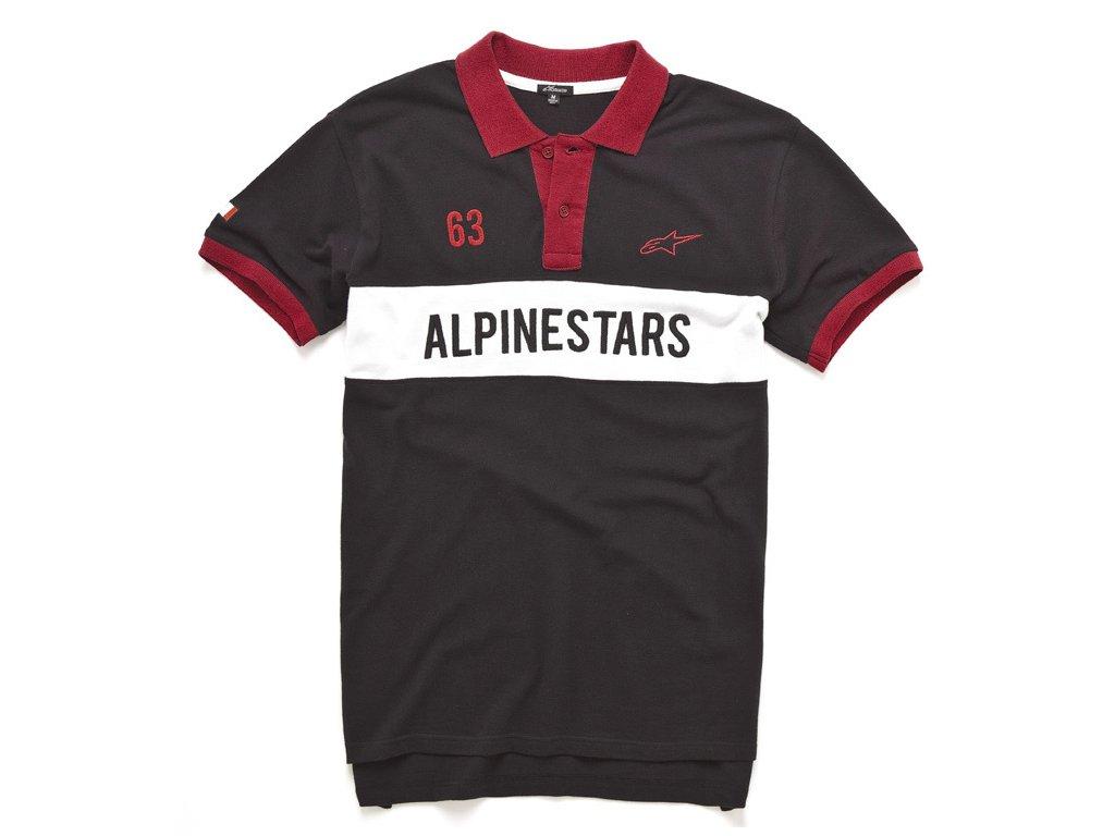 Pánské černé polo HARPER SS Alpinestars krátké 1035-41001 10