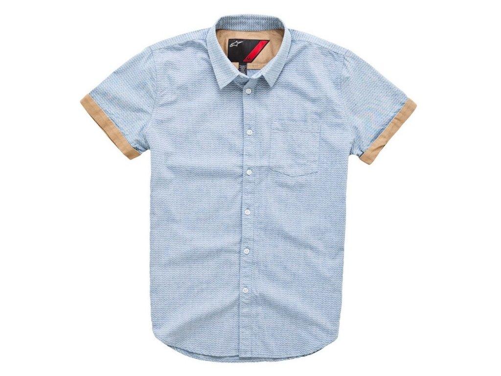 Pánská modrá košile TREAD SS Alpinestars krátka 1015-32001 72