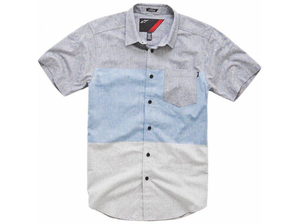 Pánská šedá košile STAVA SS Alpinestars krátka 1014-32003 72