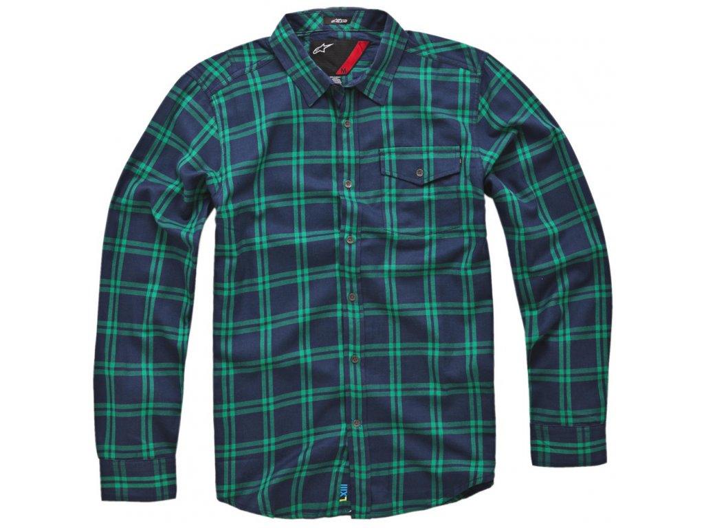 Pánská tmavě-modrá košile BOXY LS SHIRT Alpinestars dlouhá 1033-31013 70
