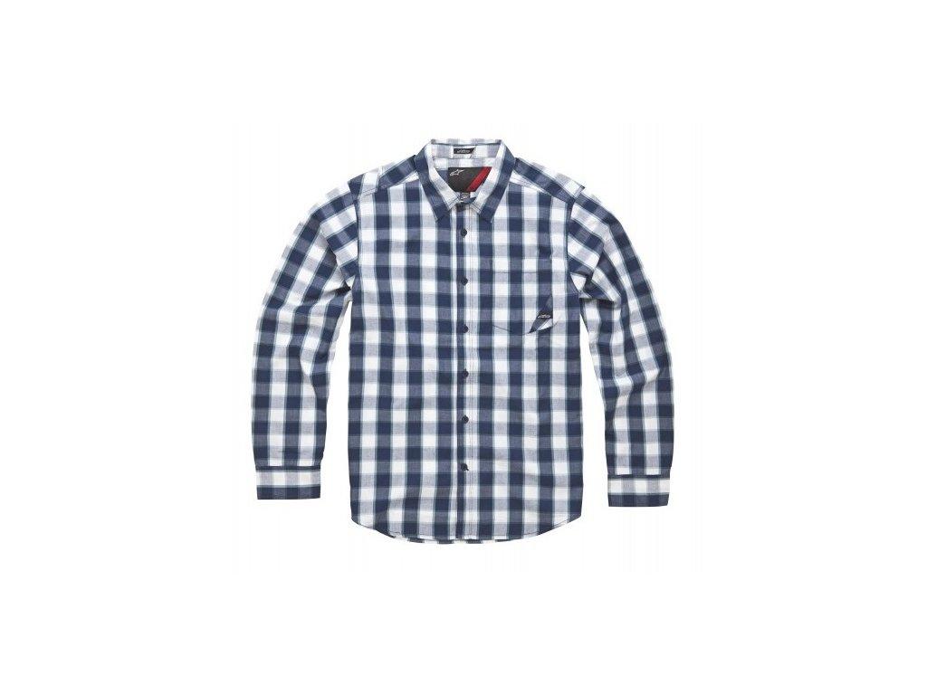 Pánská modrá košile CAPTION LS SHIRT Alpinestars dlouhá 1034-31007 70