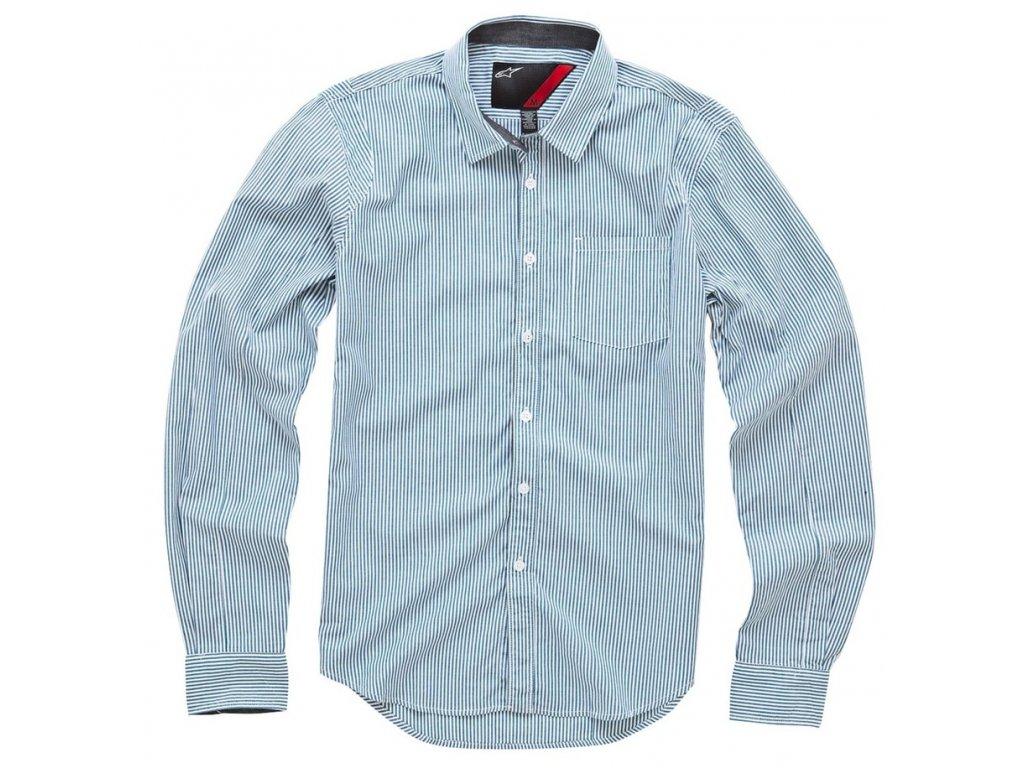 Pánská modrá košile TITAN LS Alpinestars dlouhá 1015-31000 2073