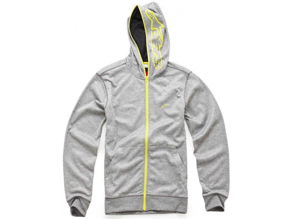 Pánská šedá mikina FREEMONT ZIP FLEECE Alpinestars 1013-53004 111