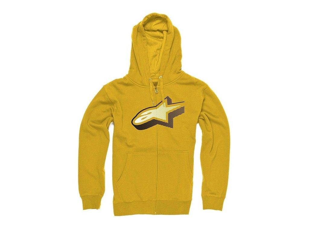 Pánská zlatá mikina ZEEROCKS ZIP HOODIE Alpinestars 1033-53003 59