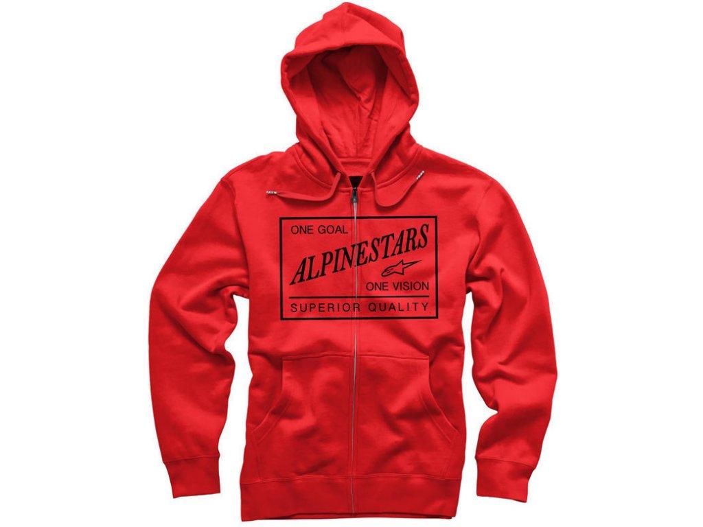 Pánská červená mikina SUPERIOR ZIP FLEECE Alpinestars 1034-53016 30
