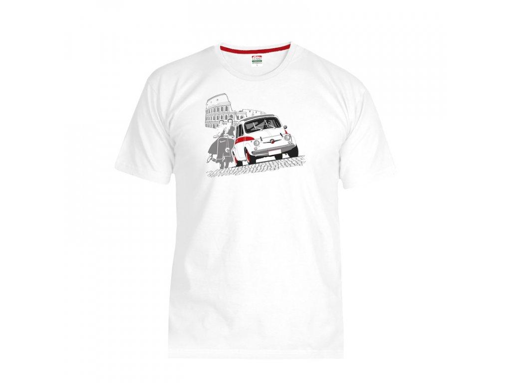 Lusso Legends panske tricko Fiat 500 Abarth Prazdniny v Rime