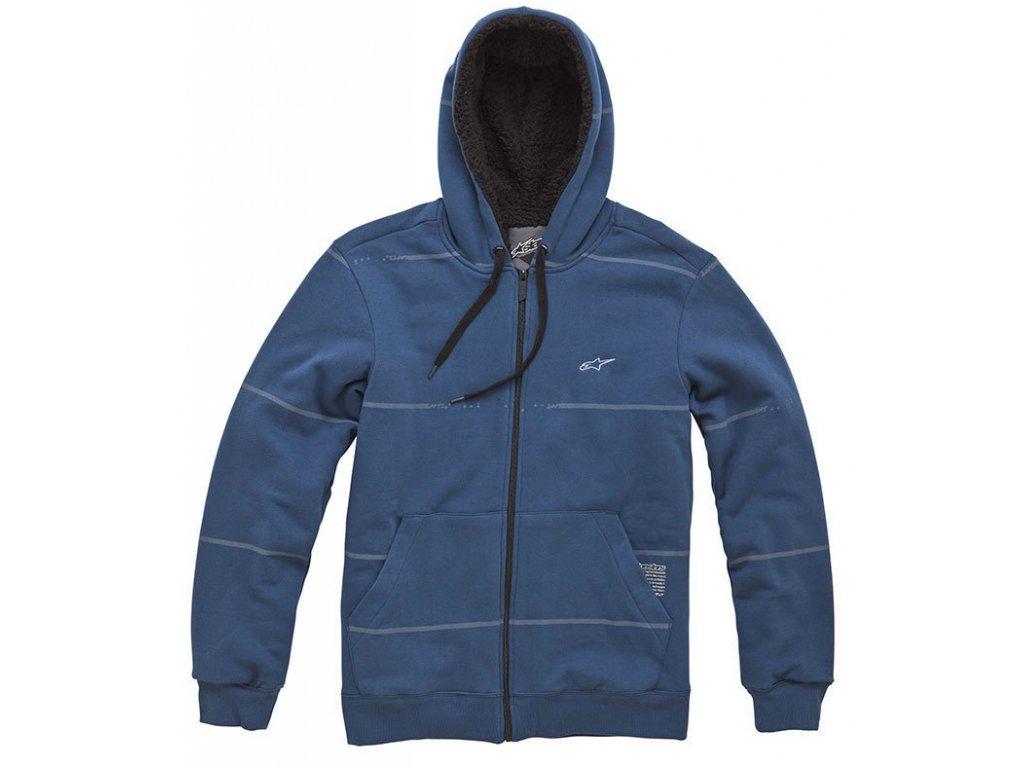 Pánská modrá mikina PROPER SHERPA ZIP Alpinestars 1043-53015 70