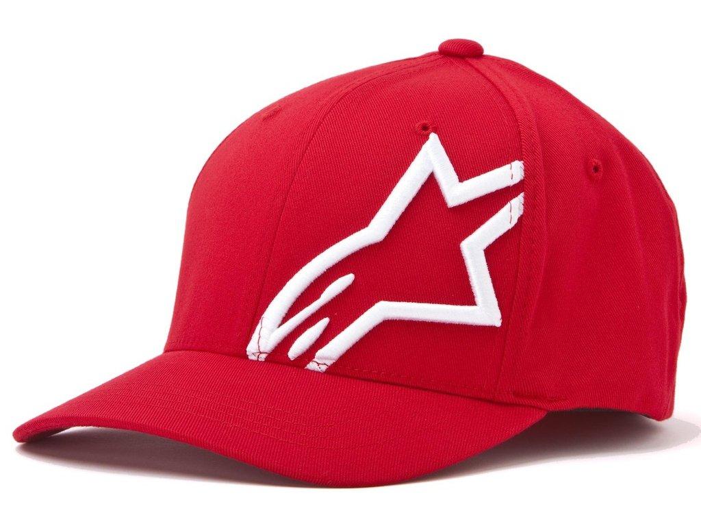 Pánská červená kšiltovka CORP SHIFT 2 FLEXFIT Alpinestars 1032-81008 3020-M