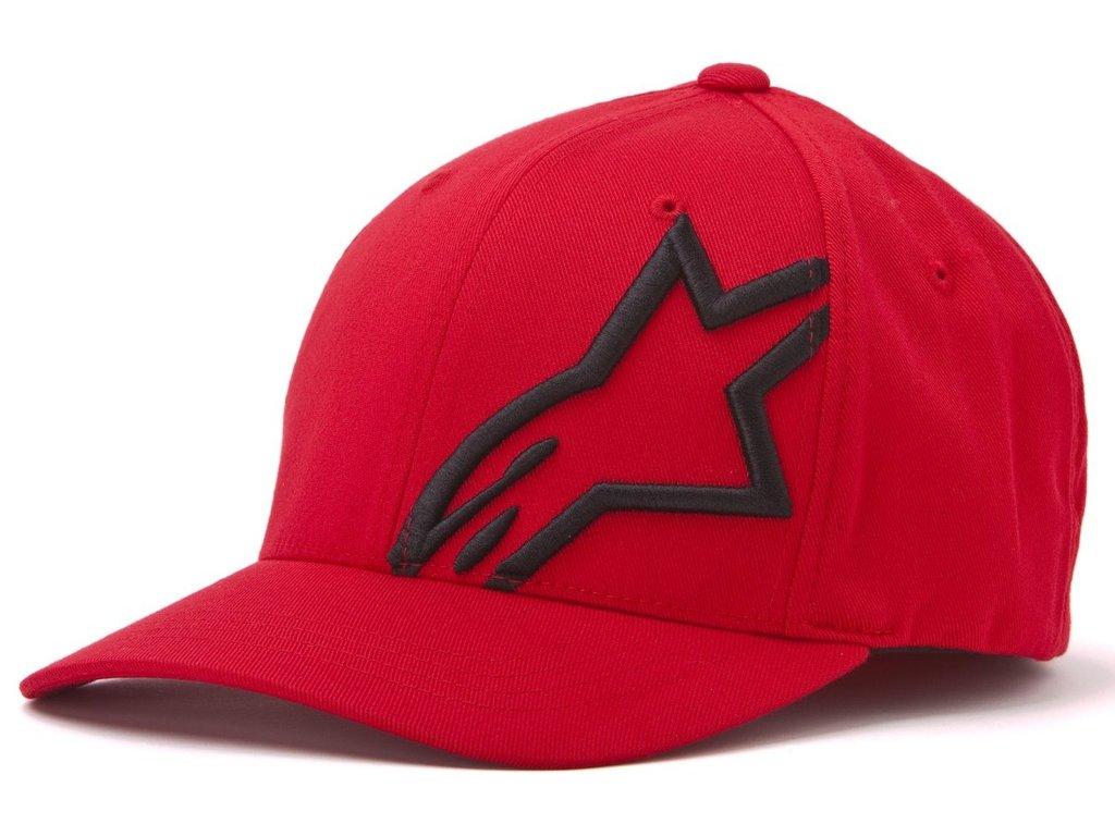 Pánská červenočerná kšiltovka CORP SHIFT 2 FLEXFIT Alpinestars 1032-81008 3010-M
