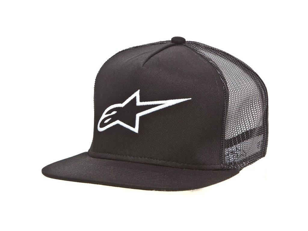 Pánská černá kšiltovka CIRCUIT CORP TRUCKER Alpinestars 1016-81003 10
