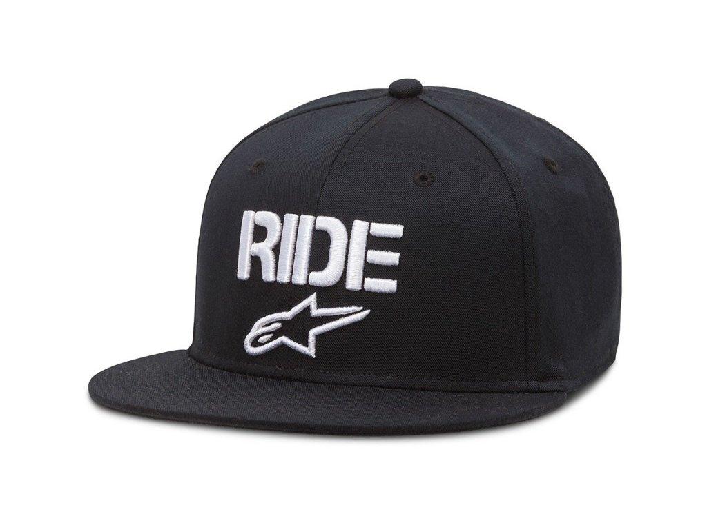Pánská černá kšiltovka RIDE FLAT HAT Alpinestars 1016-81024 10-M