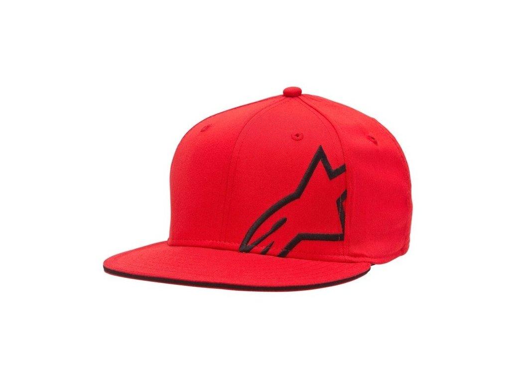 Pánská červená kšiltovka CORP SHIFT FLAT HAT Alpinestars 1015-82003 30-M