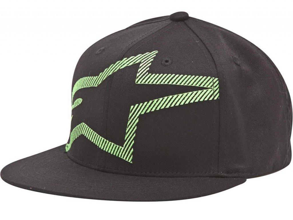 Pánská černá kšiltovka CUSTOM FLATBILL HAT Alpinestars 1033-82004 10-XL