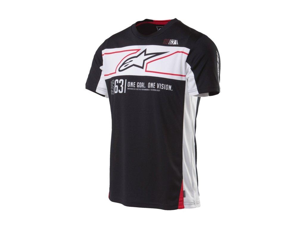 Pánské prémiové černé tričko RECOVERY SS TEE Alpinestars krátké 1035-42006 10