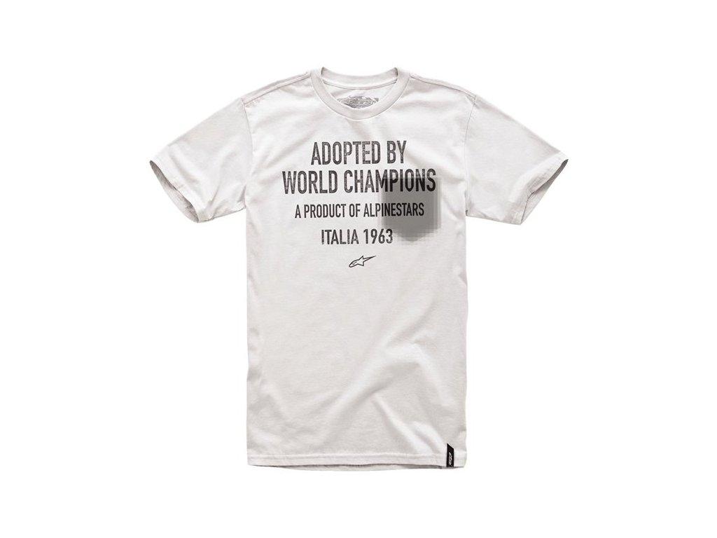 Pánské světle šedé tričko ADOPTED TEE Alpinestars krátké 1014-76005 12