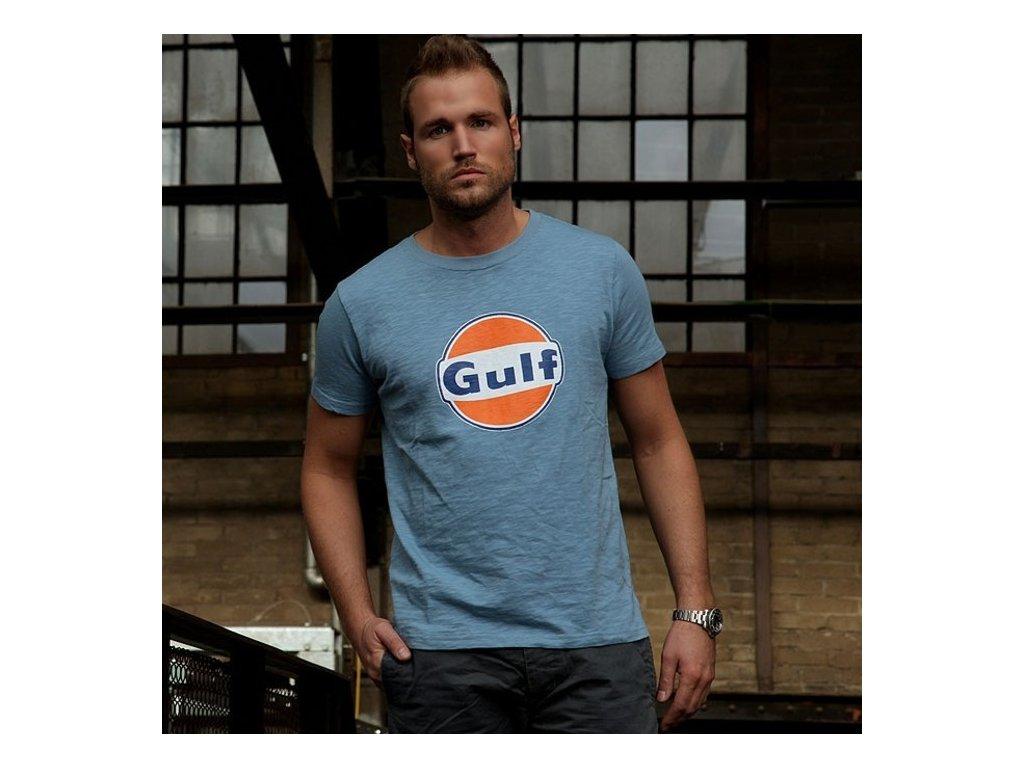 Pánské světle-modré tričko GULF