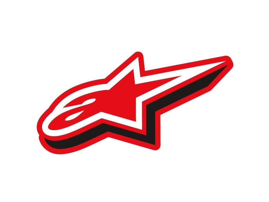 Samolepka 7 cm červená DULY Alpinestars 1033-97075 30