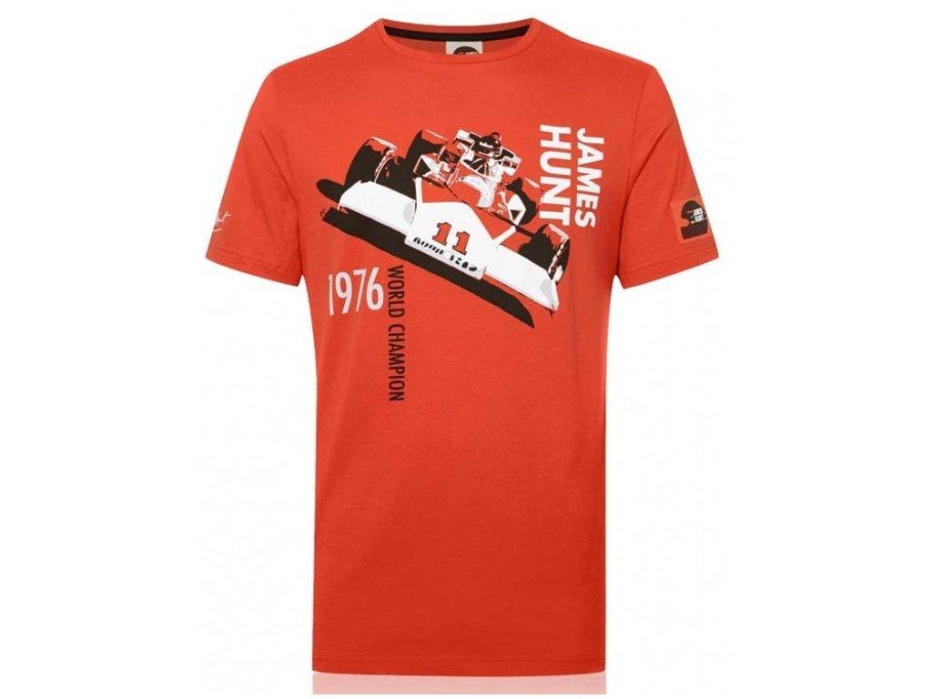 Pánské červené tričko M23 James Hunt