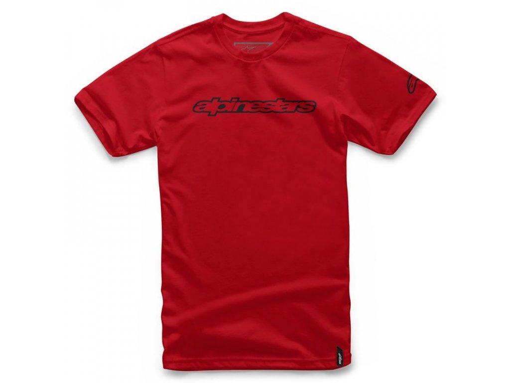 Pánské červené tričko WORDMARK TEE Alpinestars krátké 1036-72015 30