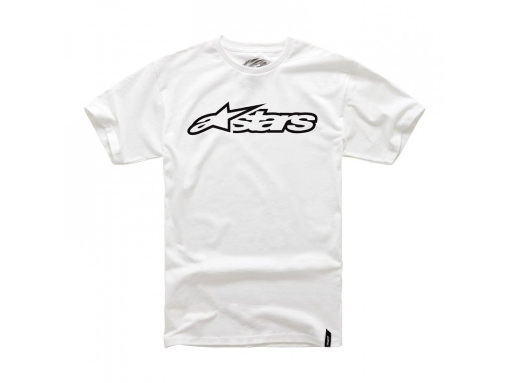 Pánské bílo-černé tričko BLAZE CLASSIC TEE Alpinestars krátké 1032-72032 2010