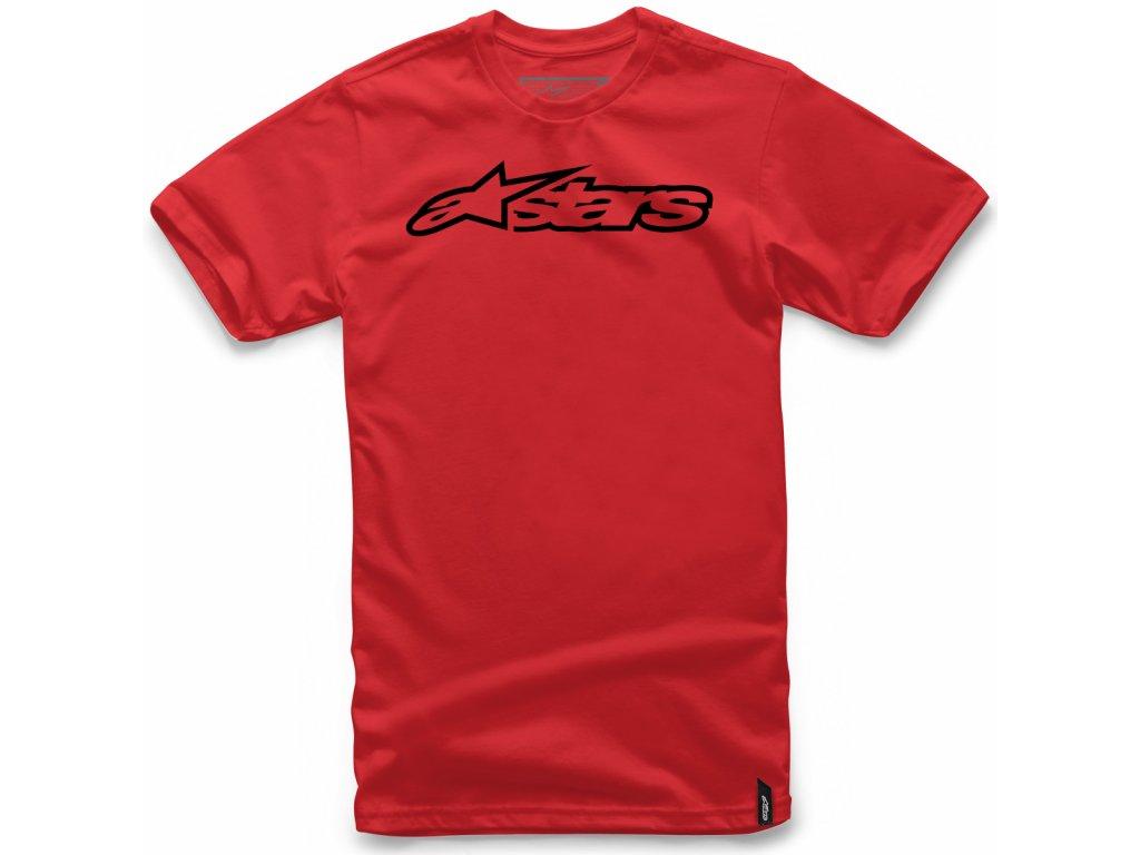 Pánské červeno-černé tričko BLAZE CLASSIC TEE Alpinestars krátké 1032-72032 3010