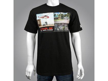 Pánské černé tričko GYMKHANA NINE PHOTO TEE Hoonigan krátké HM210G9PH BLK