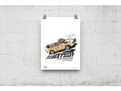 Poster Lusso Legends Michele Mouton Pikes Peak Audi 1985