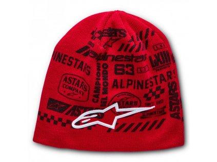 Čepice červená CHAOTIC BEANIE Alpinestars 1230-81510 30