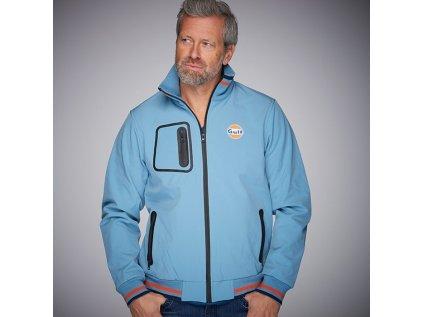 Grand Prix Originals panska bunda svetle modra GULF softshell produkt 1