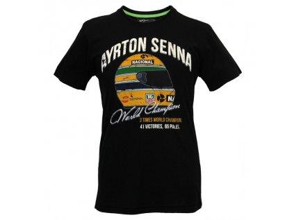 Motorsport Legends GPO Heroes panske tricko Ayrton Senna World Champion cerne 1