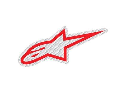 Samolepka 9 cm červená CARBON Alpinestars 1033-97074 3020