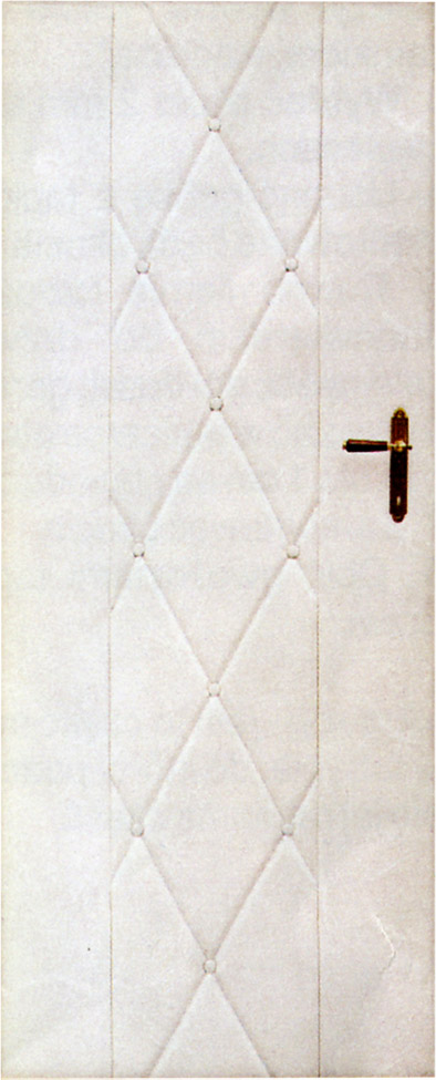 Koženkové čalounění dveří