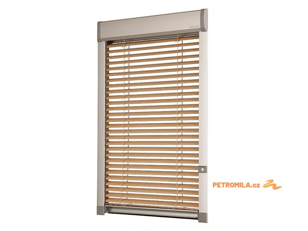 Žaluzie LITE na střešní okna Velux F06 66x118 cm (TYP KOLEČKEM NA RÁMU VLEVO)