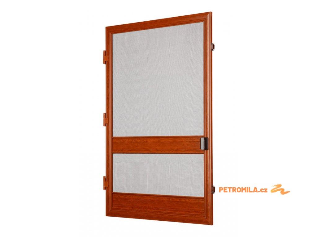 Balkonová síť proti hmyzu šířka do 80cm (ODSTÍN ZLATÝ DUB, PANTY VPRAVO, VÝŠKA 0-180cm)