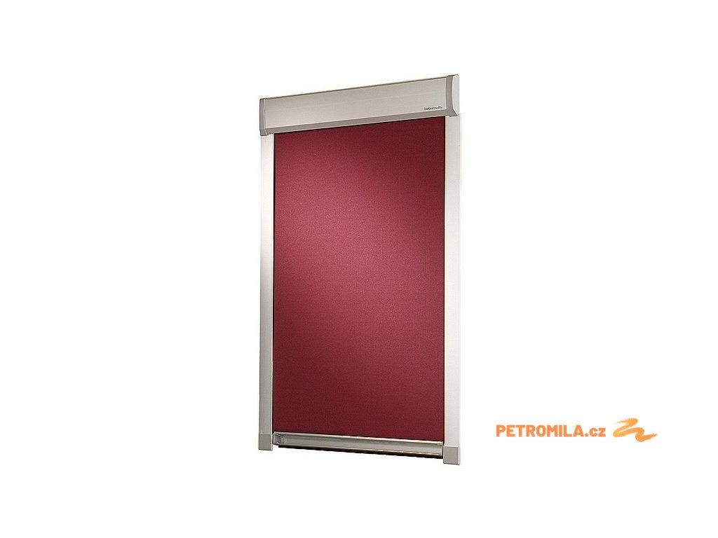 Roleta LITE pro střešní okna VELUX C02 (LÁTKA ZATEMŇUJÍCÍ, RÁM BÍLÝ)