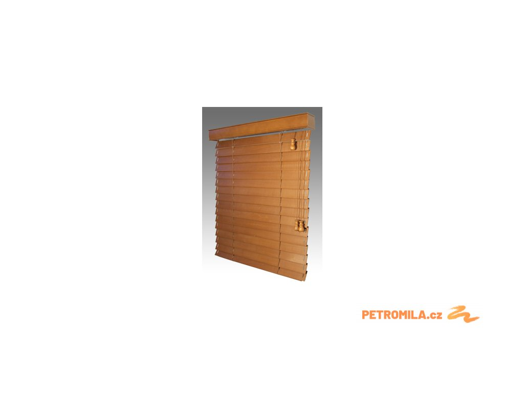 Žaluzie dřevěné KLASIK 50, šířku vyrobíme na míru mezi 1601-1700mm (VÝŠKA mezi 801-1000mm)