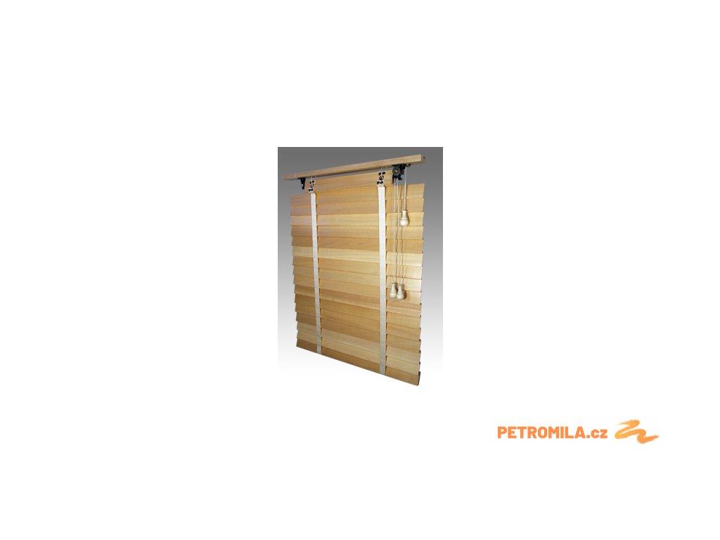 Žaluzie dřevěné, RETRO 50, šířku vyrobíme na míru mezi 2301-2400mm (VÝŠKA mezi 801-1000mm)