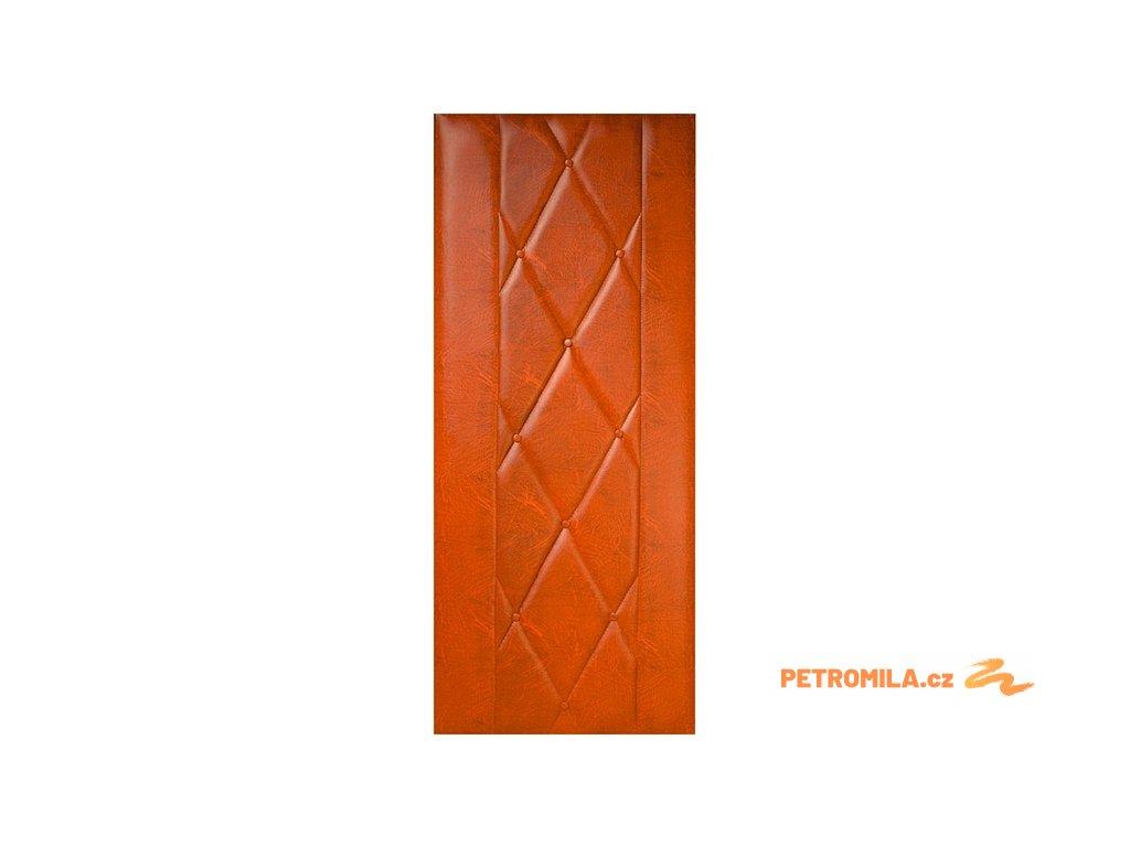 Koženkové čalounění dveří 80x200 Standard - SVĚTLÝ DUB