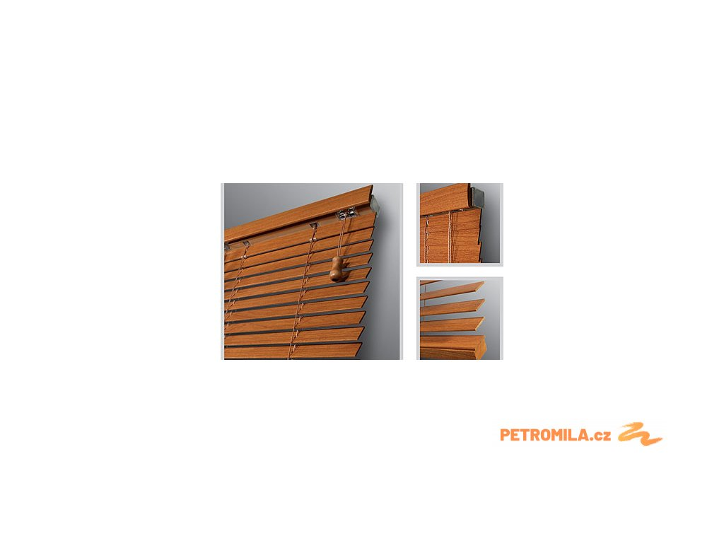 Žaluzie dřevěné KLASIK 25, šířka na míru mezi 2301-2400mm (VÝŠKA mezi 801-1000mm)
