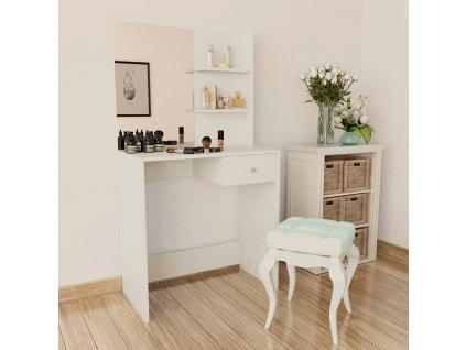 Toaletní stolek dřevotříska 75 x 40 x 141 cm bílý
